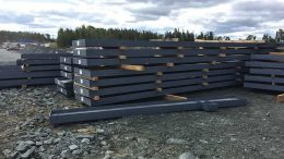 Steel for mill construction at Harte Gold's Sugar gold project in Ontario. Credit: Harte Gold.