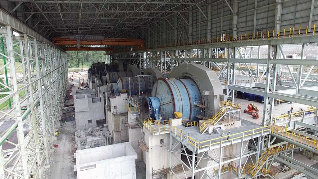 Milling facilities under construction at First Quantum Minerals' Cobre Panama copper project in Panama. Credit: First Quantum Gold.