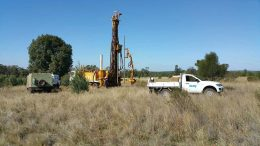 A drill rig at CleanTeq Holdings' Syerston cobalt-nickel-scandium project in Australia's New South Wales. Credit: CleanTeq Holdings.