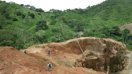 Cordoba Minerals' geologists at work near Montiel East at the San Matias copper-gold project in Colombia. Credit: Cordoba Minerals.