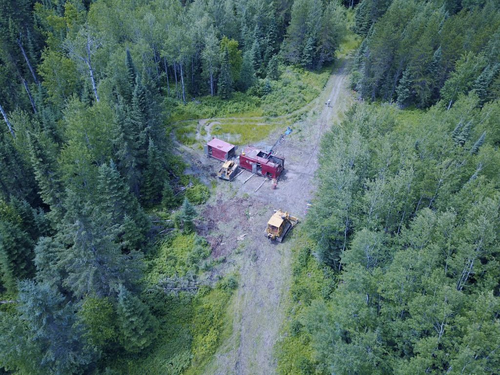A drill rig at Great Bear Resources' Dixie Lake gold property in Ontario's Red Lake greenstone belt. Credit: Great Bear Resources.