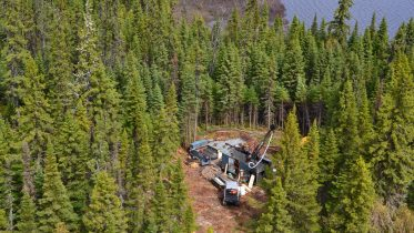 A dill rig on Bonterra Resources' Gladiator gold project in Quebec's Abitibi belt. Credit: Bonterra Resources.