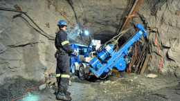 Orbit Garant Drilling equipment at work underground. Credit: Orbit Garant Drilling.