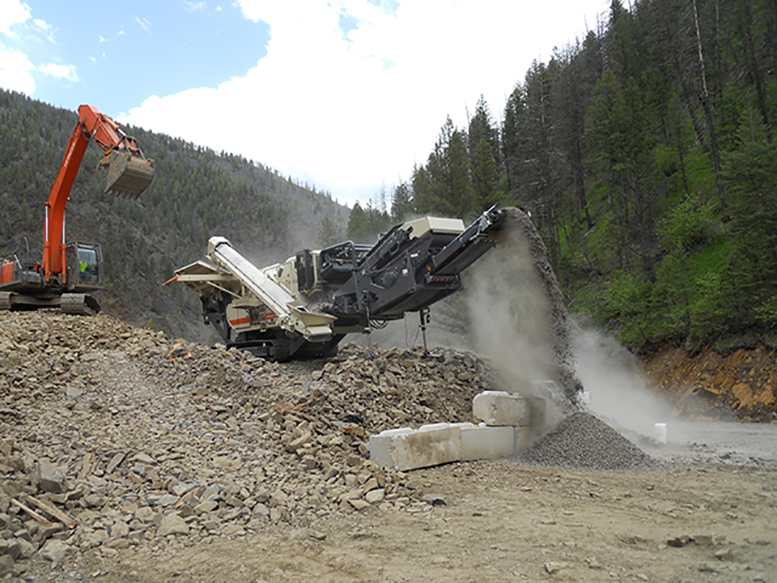 Activity during US$65.3-million in construction at the Idaho cobalt project in the summer of 2011. Credit: eCobalt Solutions.