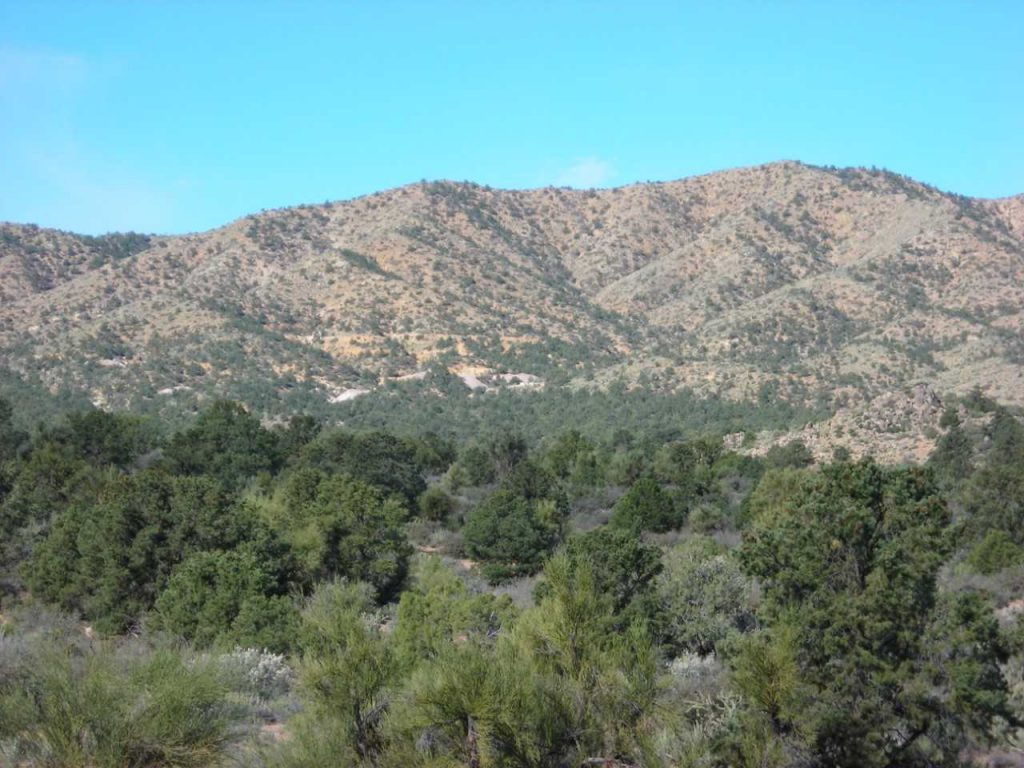 "The Hackberry Project (""Property"") is located within the central Peacock Mountain Range of northwest Arizona. Credit: Bitterroot Resources."