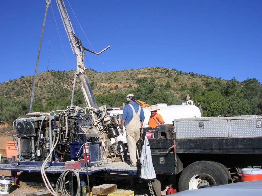 Bitterroot Resources mounted the first-ever drill program at the historic Hackberry silver-gold project in early September. Assays are pending. Credit: Bitterroot Resources.