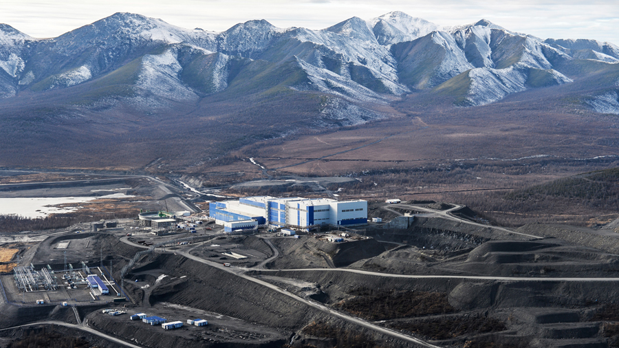 Polyus Gold, Russia's largest gold producer, operates the Natalka open-pit mine 400 km away from the sea port of Magadan. Credit: Polyus Gold.