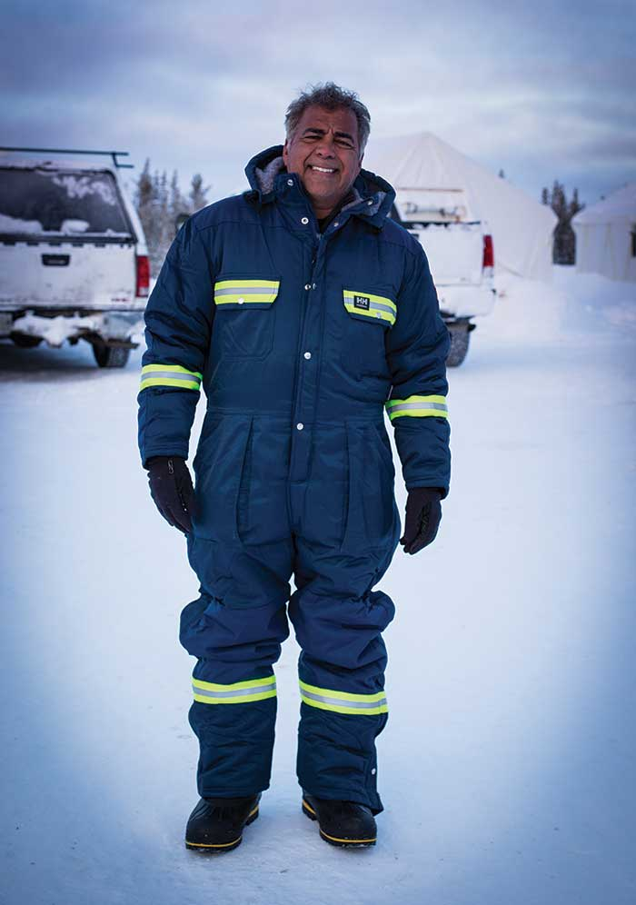 Dev Randhawa, Fission Uranium chairman and CEO, at Fission's Patterson Lake South project in northern Saskatchewan. Randhawa also helms Ironside Resources. Credit: Fission Uranium.