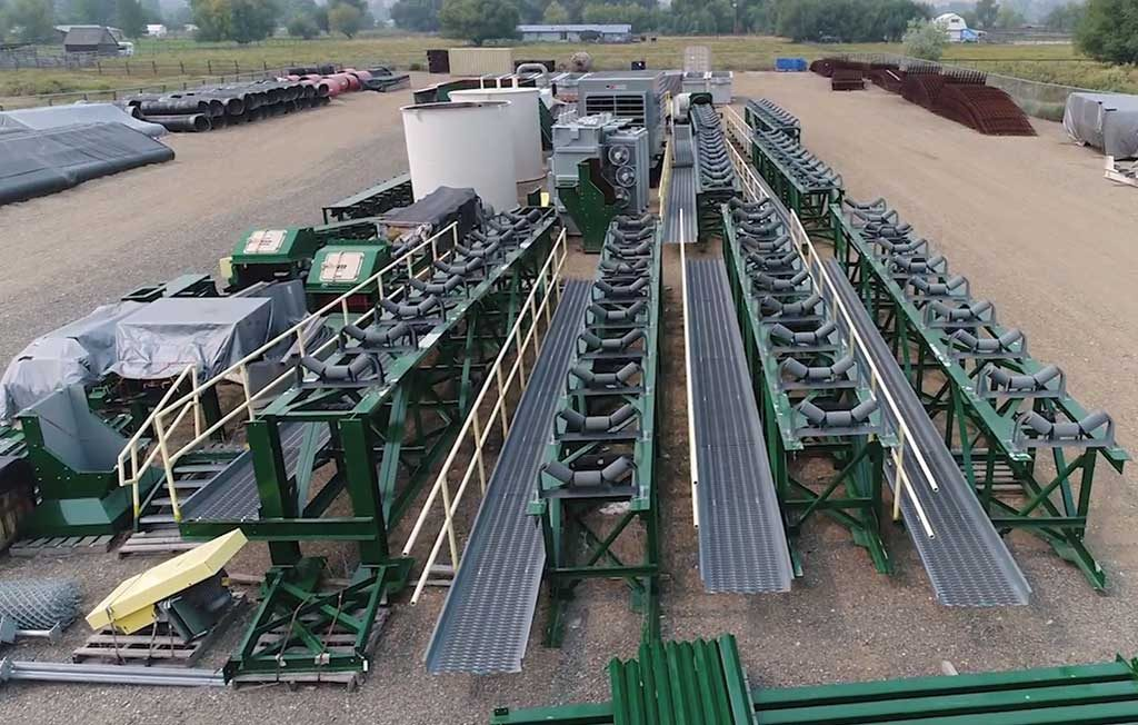 Some of the US$16-million worth of pre-purchased mine and mill equipment at eCobalt Solutions' warehouse grounds in Salmon, Idaho. Credit: Cobalt Solutions.