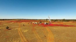 A drill site at Clean TeQ Holdings' Sunrise project cobalt-nickel-scandium project in Australia, 350 km west of Sydney. Credit: Clean TeQ Holdings.