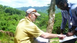 Carube Copper president and CEO Jeffrey Ackert and staff at work on the company's property in Jamaica. Credit: Carube Copper.