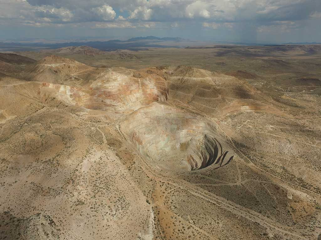 Once formed, Equinox Gold will control two past-producing gold projects: Aurizona in Brazil and Castle Mountain (above) in California. Credit: Trek Mining, NewCastle Gold.