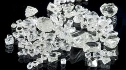 Diamonds larger than 0.11 carat, from a 2013 bulk sample of CH-6, at Chidliak. Credit: Peregrine Diamonds