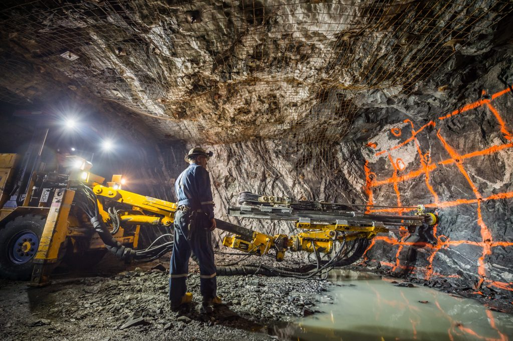 Production drilling at SSR Mining's Seabee underground gold mine in northern Saskatchewan. Credit: SSR Mining.