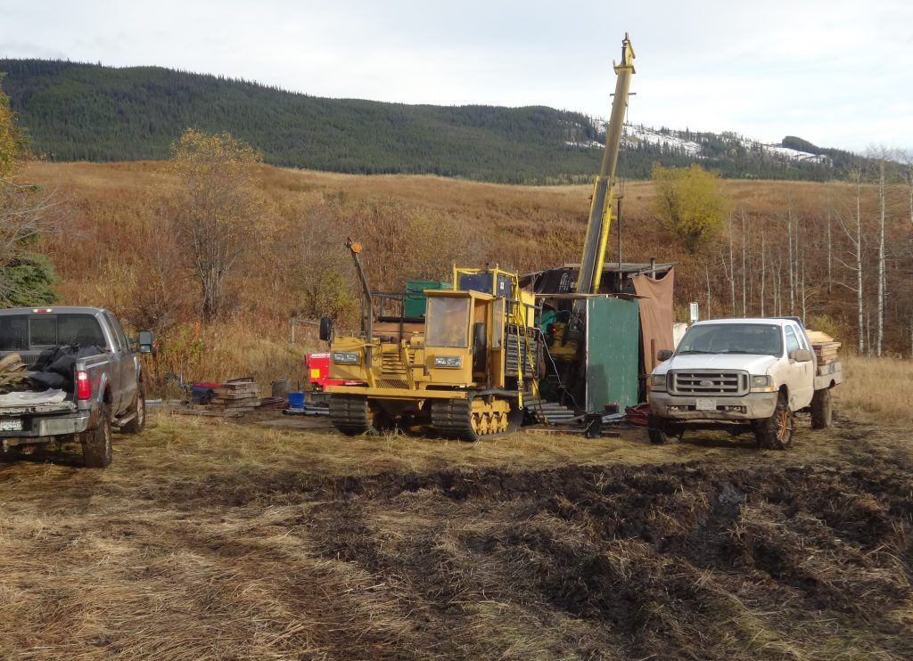 A drill rig at New Nadina Explorations Silver Queen polymetallic property in west-central British Columbia. Credit: New Nadina Explorations.