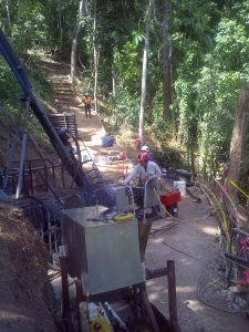 Drilling on Carube's property in Jamaica. Credit: Carube Copper.