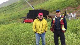 Aben Resources' president and CEO Jim Pettit with vice-president of exploration Cornell McDowell at the Boundary Zone, Forrest Kerr property in northwestern British Columbia.