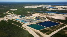 Aerial view of Cameco's Key Lake uranium mill site, 570 km north of Saskatoon, Saskatchewan. Credit: Canadian Nuclear safety Commission.