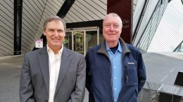 Chakana Copper CEO David Kelley (left) and chairman Douglas Kirwin, outside the Royal Ontario Museum in Toronto. Photo by Trish Saywell