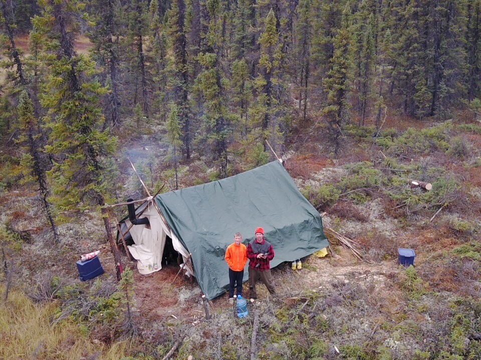 A prospecting crew soon after mobilizing on the MacBride property. Credit: Rockcliff Metals.