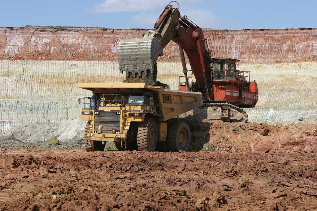 Material is loaded into a haul truck at Gold Fields' Agnew gold mine in Western Australia. Credit: Gold Fields.