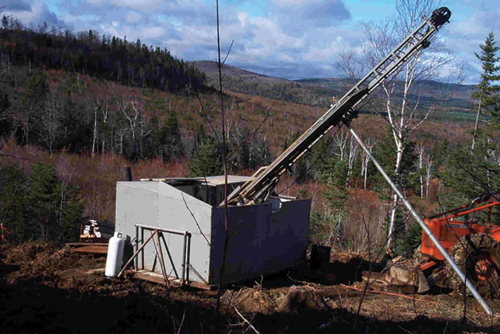 A drill rig on Osisko Metals' property in the Bathurst mining camp. Credit: Osisko Metals.