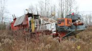A drill rig Orefinders inherited on its 100% owned past producing Tyrenite mine. Credit: Orefinders.