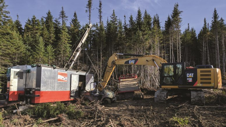 A dill site at Marathon Gold's Valentine Lake gold camp in central Newfoundland. Photo by Marathon Gold Corp.