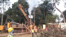 Orca mobilized drill rigs at Morondo immediately after acquiring the property. Credit: Orca Gold.