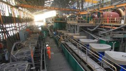 Inside the processing facilities at Pan American Silver's Huaron mine in Peru. Credit: Pan American Silver.