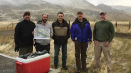 The team at Group Ten Metals' newly-acquired Stillwater West PGM-nickel-copper project in Montana, from left: Mike Ostenson, geologist; Justin Modroo, geophysicist; Michael Rowley, president and CEO; Greg Johnson, executive chair; Craig Bow, chief geologist. Credit: Group Ten Metals.
