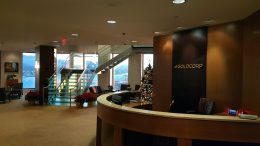 Entering Goldcorp's Vancouver head offices. Photo by Matthew Keevil.
