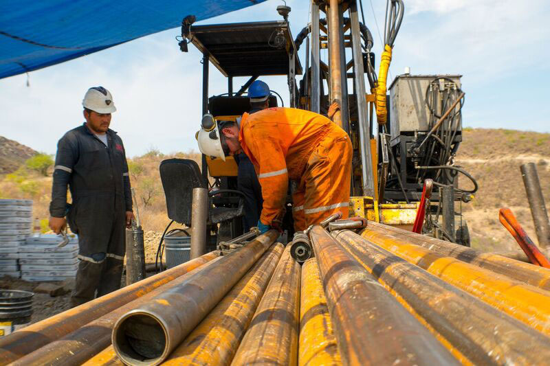 Drillers work on surface at the Las Chipas silver-gold project 180 km due northeast of Hermosillo, Mexico. Credit: SilverCrest Metals.