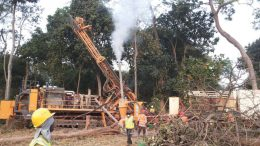 Drillers at Orca Gold's Morondo gold project in Côte d'Ivoire. Credit: Orca Gold.