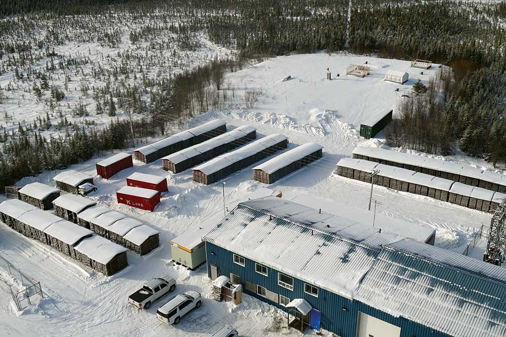 The core storage facilities and buildings at Maple Gold Mines' Douay gold project in Quebec. Credit: Maple Gold Mines.