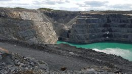 The past-producing Z87 open pit at the Troilus gold-copper project, 175 km north of Chibougamau, Quebec. Credit: Troilus Gold.