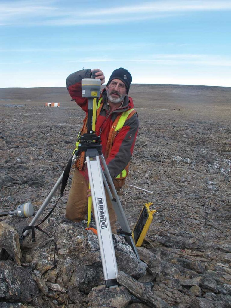 Geologist David Ritcey surveying at the Chidliak property for Peregrine Diamonds in 2017. Credit: Peregrine Diamonds.