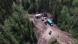 A drill site at Harte Gold's Sugar Zone gold property in Ontario. Credit: Harte Gold.