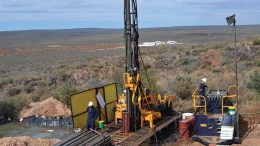 Drillers at Levon Resources' Cordero silver-polymetallic project in south-central Chihuahua state, Mexico. Credit: Levon Resources.