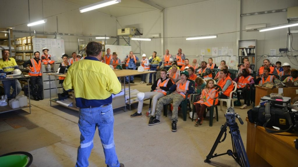 Hosting community visitors at Vista Gold's Mt Todd gold project in Australia's Northern Territory. Photo credit: Vista Gold Corp.