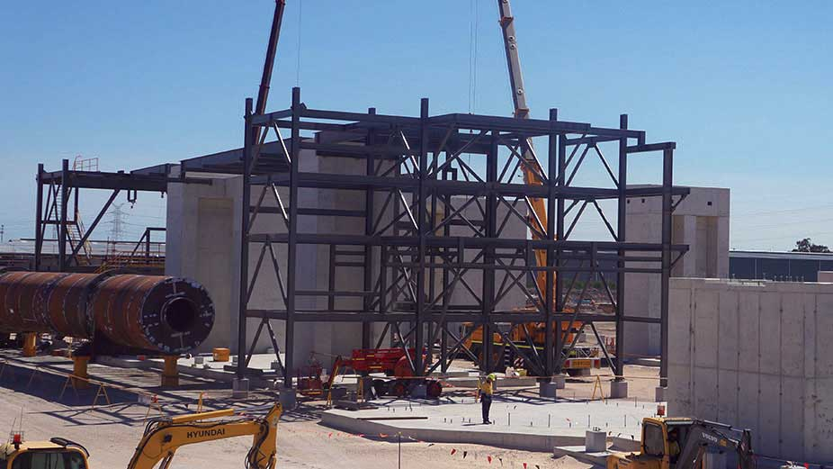 Tianqi Lithium's lithium hydroxide processing plant under construction. Credit: Tianqi Lithium.