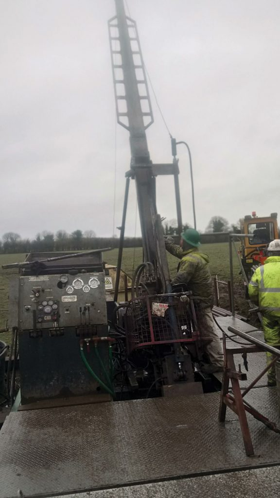 Drillers at Group Eleven Resources' Ballinalack zinc project. Credit: Group Eleven Resources.