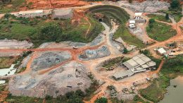 An aerial view of the Sao Chico gold mine in the Tapajos region in Para, Brazil. Credit: Serabi Gold.