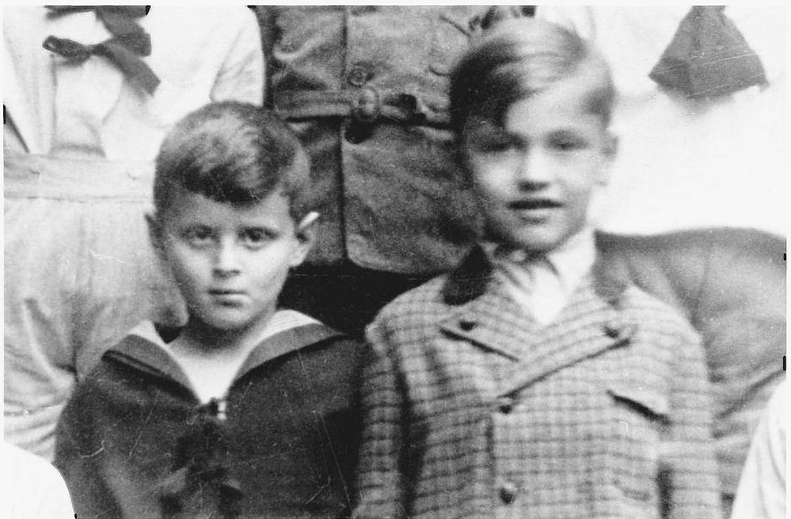 Peter Munk (left) as a boy in Budapest, Hungary, in the late 1930s. Credit: From the book Kasztner's Train.