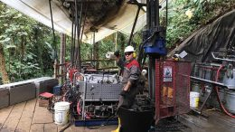 A driller at SolGold's Cascabel copper-gold project in northern Ecuador. Credit: SolGold.