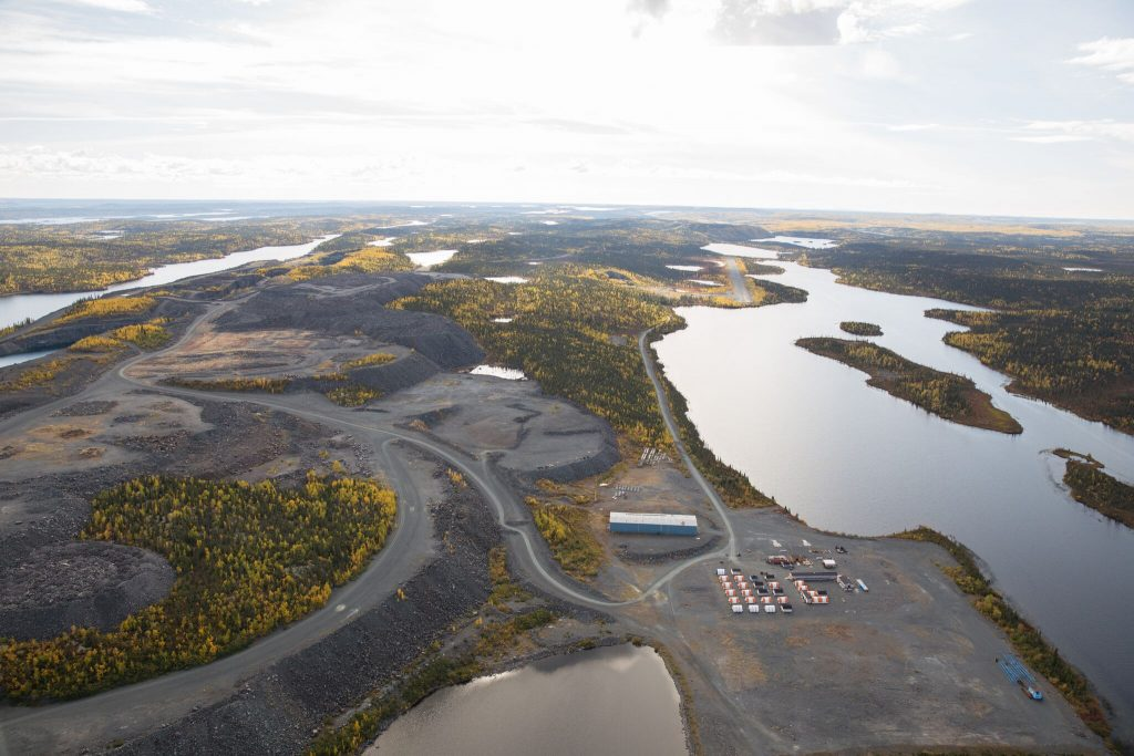 The Colomac gold project at Nighthawk's Indin Lake. Credit: Nighthawk.