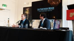 Ross Beaty (left), chairman of Pan American Silver and Equinox Gold, and Gianni Kovacevic, executive chairman and CEO of CopperBank Resources, at The Northern Miner's Canadian Mining Symposium in London, U.K., in April 2018. Photo by John Cumming.