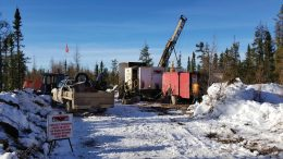 Drillers tackling the 50,000-metre program at Osisko Metals' Pine Point zinc-lead project in the Northwest Territories. Credit: Osisko Metals