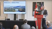 Orefinders chief executive officer and director Stephen Stewart presents at the Canadian Mining Symposium in London on April 25, 2018.