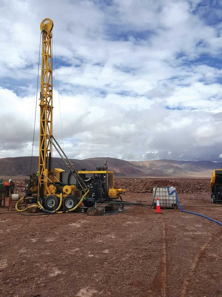 A drill site at LSC Lithium's Pozuelos-Pastos Grandes lithium project in Argentina's Salta province. Credit: LSC Lithium.
